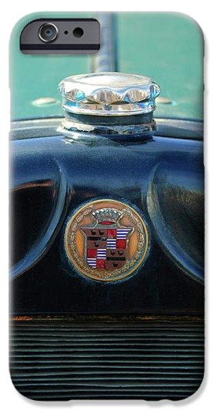 1925 Cadillac Hood Ornament and Emblem iPhone Case by Jill Reger