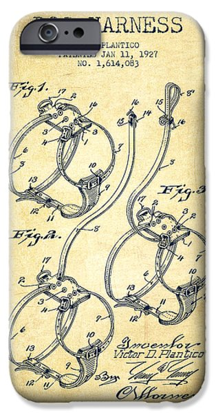 Dog iPhone Cases - 1927 Dog Harness Patent - Vintage iPhone Case by Aged Pixel