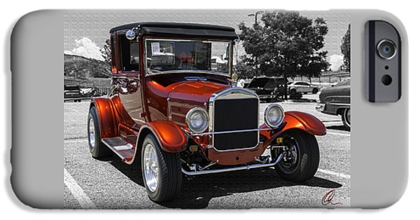 Model iPhone Cases - 1928 Ford Coupe Hot Rod iPhone Case by Chris Thomas