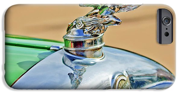 Car Mascots iPhone Cases - 1928 Studebaker Hood Ornament iPhone Case by Jill Reger