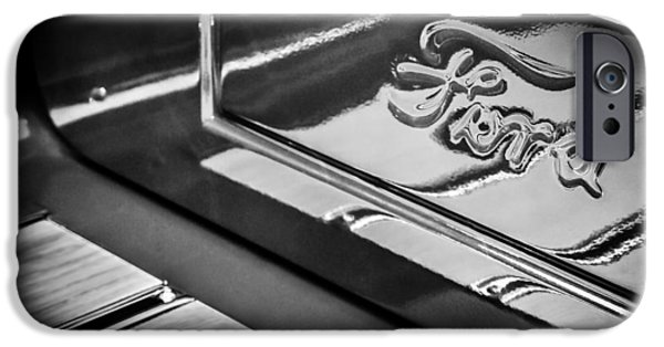 Ford Truck iPhone Cases - 1929 Ford Roadster Pickup Truck -0158bw iPhone Case by Jill Reger