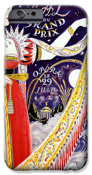 Op iPhone Cases - 1929 Opera Poster iPhone Case by Jon Neidert