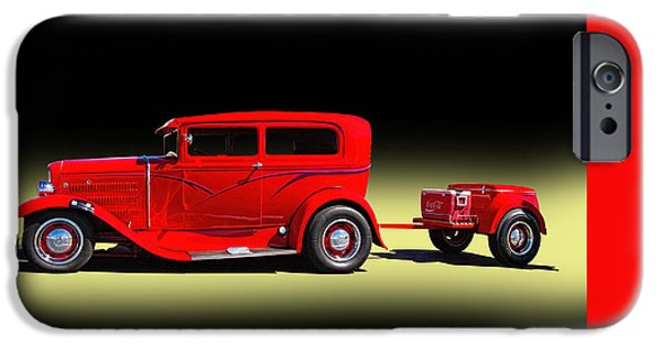 Police iPhone Cases - 1930 Ford Sedan With Trailer iPhone Case by Nick Gray