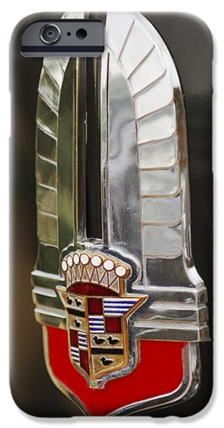 1930's Cadillac Emblem iPhone Case by Jill Reger