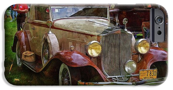 Old Cars iPhone Cases - 1932 Packard 900 iPhone Case by Thom Zehrfeld