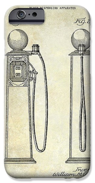 Griffin iPhone Cases - 1933 Gas Pump Patent iPhone Case by Jon Neidert
