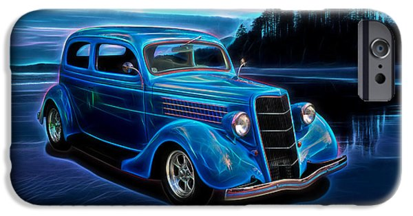 Old Cars iPhone Cases - 1935 Ford 2-Door Sedan iPhone Case by Richard Farrington