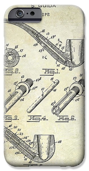 Pipe iPhone Cases - 1935 Pipe Patent  iPhone Case by Jon Neidert