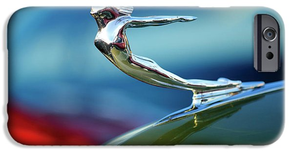 Hoodies iPhone Cases - 1936 Cadillac Hood Ornament 2 iPhone Case by Jill Reger