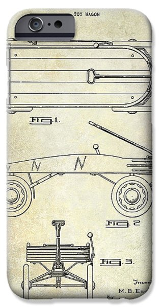 Wagon Photographs iPhone Cases - 1939 Toy Wagon Patent  iPhone Case by Jon Neidert