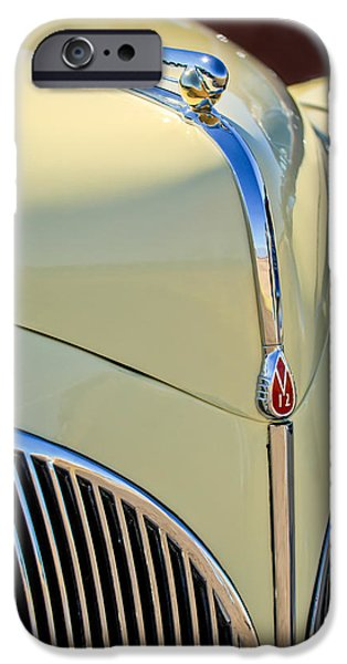 1941 iPhone Cases - 1941 Lincoln Continental Cabriolet V12 Grille iPhone Case by Jill Reger