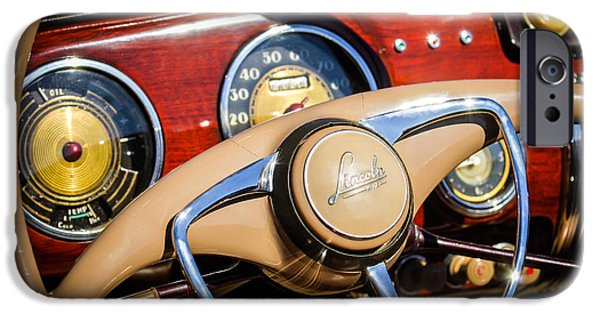 Lincoln iPhone Cases - 1941 Lincoln Continental Cabriolet V12 Steering Wheel iPhone Case by Jill Reger