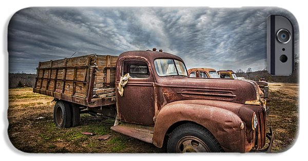 Old Cars iPhone Cases - 1942 Old Ford Truck iPhone Case by Debra and Dave Vanderlaan