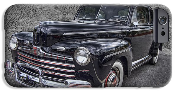 Smokey Mountains iPhone Cases - 1946 Ford iPhone Case by Debra and Dave Vanderlaan