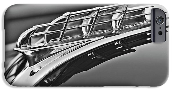 1949 Plymouth iPhone Cases - 1949 Plymouth Hood Ornament 2 iPhone Case by Jill Reger