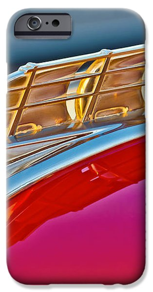 1949 Plymouth Hood Ornament iPhone Case by Jill Reger