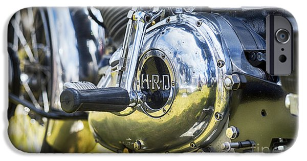 Polish Culture iPhone Cases - 1950 HRD Vincent Series B Meteor Abstract iPhone Case by Tim Gainey