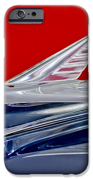 1951 Ford Woodie Hood Ornament iPhone Case by Jill Reger