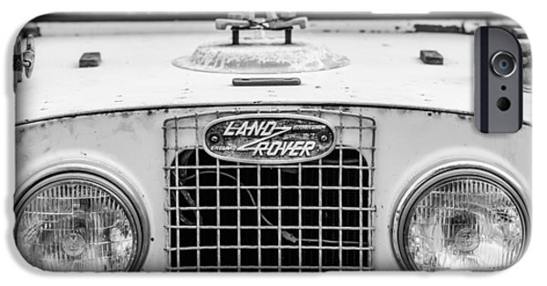 Buy iPhone Cases - 1952 Land Rover 80 Grille -0988bw iPhone Case by Jill Reger