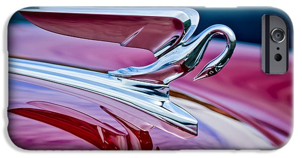 1952 iPhone Cases - 1952 Packard 400 Hood Ornament iPhone Case by Jill Reger