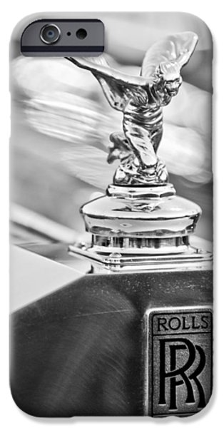 1952 iPhone Cases - 1952 Rolls-Royce Silver Wraith Hood Ornament 2 iPhone Case by Jill Reger