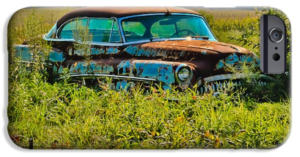 Chip iPhone Cases - 1953 Buick Roadmaster - September Morning iPhone Case by Greg Jackson