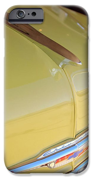 1953 Chevrolet Bel Air Hood Ornament iPhone Case by Jill Reger