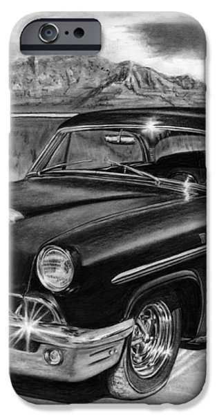 1953 Mercury Monterey on Bonneville iPhone Case by Peter Piatt
