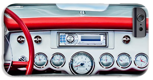 Print Photographs iPhone Cases - 1954 Chevrolet Corvette Dashboard iPhone Case by Jill Reger