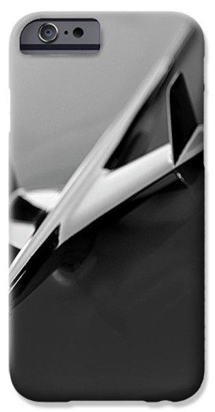 1955 Chevrolet Belair Hood Ornament 2 iPhone Case by Jill Reger
