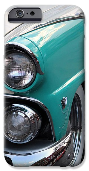 Jordan iPhone Cases - 1955 Ford Fairlane Headlight iPhone Case by Rosanne Jordan