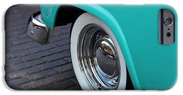 Jordan iPhone Cases - 1955 Ford Fairlane Wheel iPhone Case by Rosanne Jordan