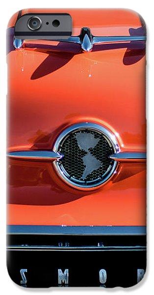 1955 Oldsmobile Rocket 88 Hood Ornament iPhone Case by Jill Reger