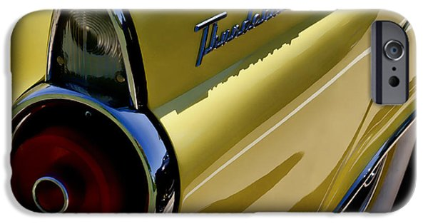 Tail iPhone Cases - 1955 T-Bird Tail   iPhone Case by Douglas Pittman