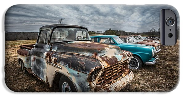 1956 Ford Truck iPhone Cases - 1956 Chevy iPhone Case by Debra and Dave Vanderlaan
