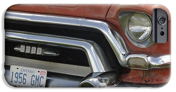 Automotive Pyrography iPhone Cases - 1956 Gmc iPhone Case by Claude Prud
