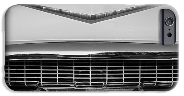 Old Cars iPhone Cases - 1957 Belair Grill iPhone Case by Dennis Hedberg