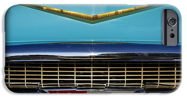 Old Cars iPhone Cases - 1957 Chevrolet Grill iPhone Case by Dennis Hedberg