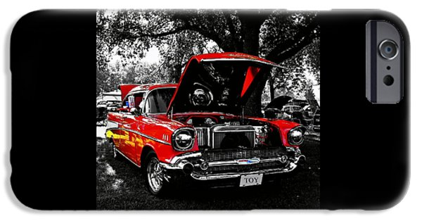 Model iPhone Cases - 1957 Chevy Bel Air iPhone Case by Chris Berry