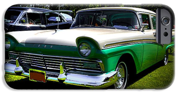 Automotive iPhone Cases - 1957 Ford Fairlane 4 Door iPhone Case by David Patterson