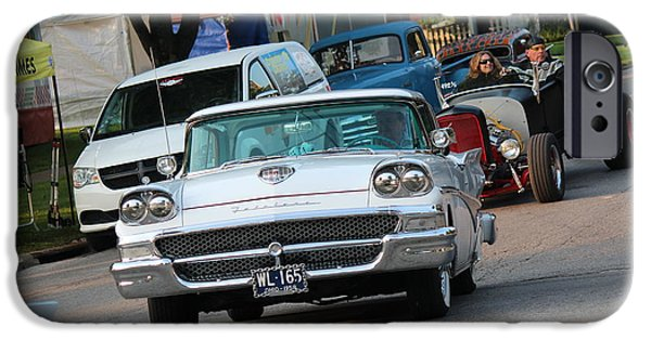 July iPhone Cases - 1958 Ford Fairlane iPhone Case by R A W M