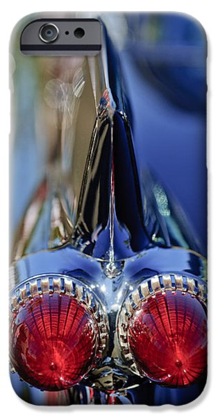 1959 Cadillac Eldorado Tail Fin 4 iPhone Case by Jill Reger