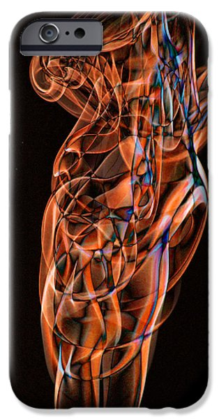 Shape iPhone Cases - Abstract Smoke Art iPhone Case by Stephen Inglis