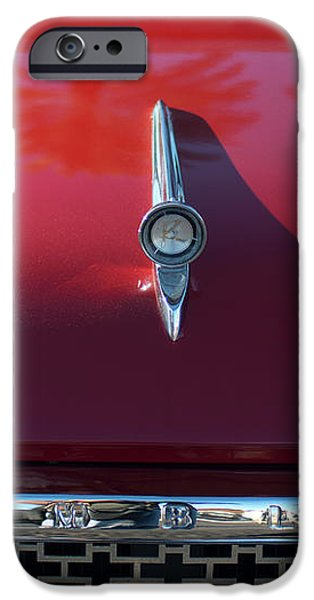 1961 Rambler Hood Ornament 2 iPhone Case by Jill Reger