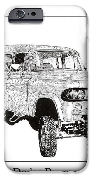 1962 Dodge Powerwagon iPhone Case by Jack Pumphrey