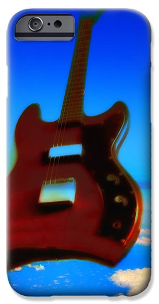 Jet Star iPhone Cases - 1963 Guild Jet Star iPhone Case by Bill Cannon