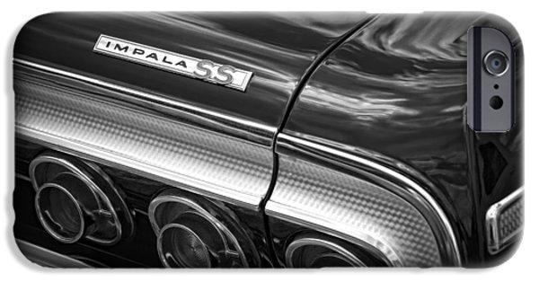 Black Top Digital Art iPhone Cases - 1964 Chevrolet Impala SS iPhone Case by Gordon Dean II