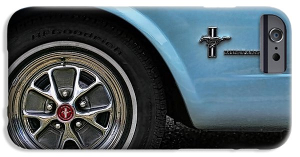 1964 Ford Emblem iPhone Cases - 1964 Ford Mustang iPhone Case by Gordon Dean II