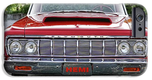 1969 Dodge Charger Stock Car iPhone Cases - 1964 Plymouth Savoy Hemi  iPhone Case by Gordon Dean II