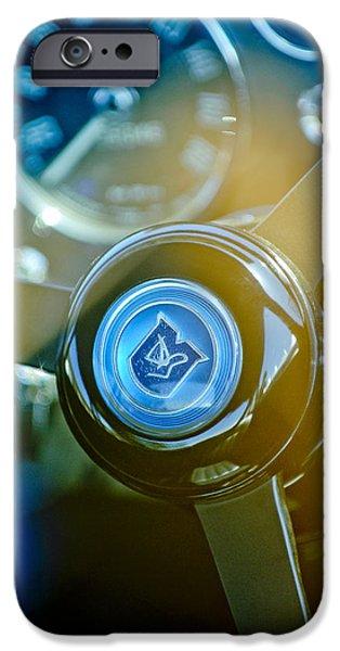 1965 Aston Martin DB5 Coupe RHD Steering Wheel iPhone Case by Jill Reger